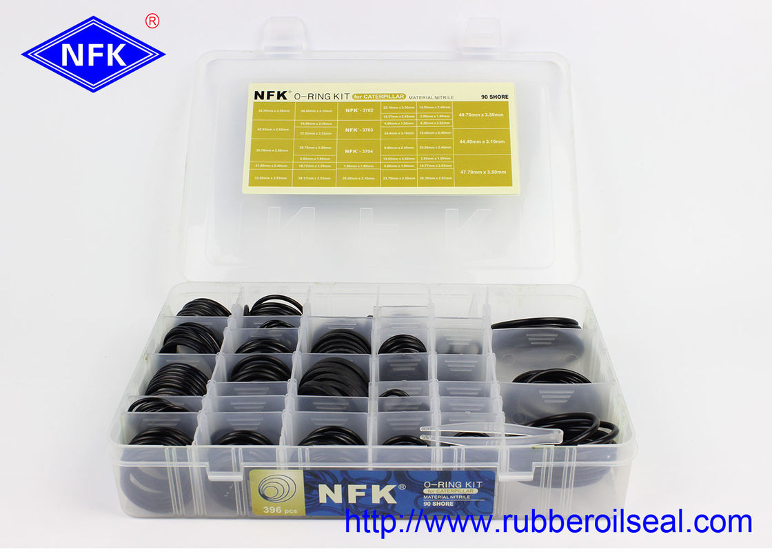High Temp Assorted O Ring Kit CATERPILLAR Hydraulic Cylinder Seals Box