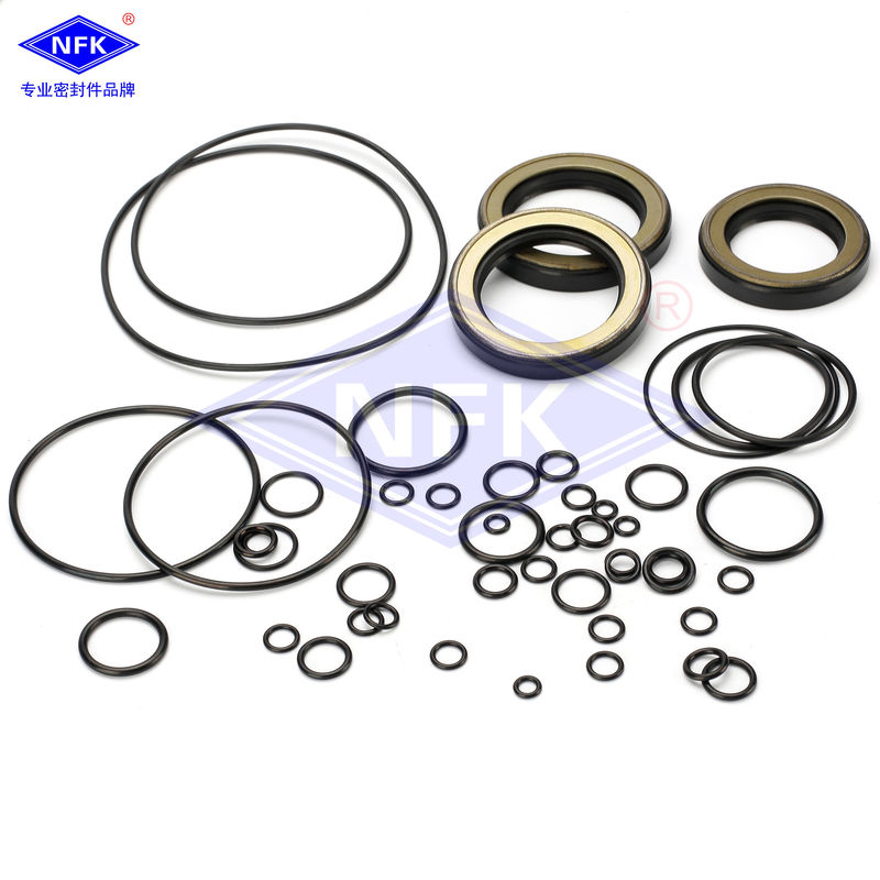 Excavator HITACHHI ZX200 ZX200-3 Hydraulic Cylinder Seal Kits NBR TPFE IRON Material